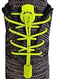 AVOSPORTS - Elastische Schnürsenkel - Schnellschnürsystem 130cm (Neongelb)