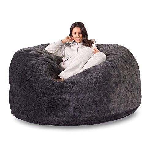 Lounge Pug®, Puff Gigante, C1000L, CloudSac Viscoelástico, Piel Sint