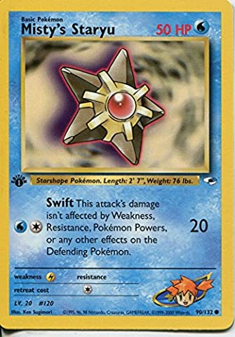 Pokemon Gym Heroes 1st Edition Common Card #90/132 Mistys Staryu