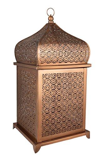 Orientalische Laterne aus Metall Suleika 41cm | orientalisches Windlicht | Marokkanische Metalllaterne für draußen als Gartenlaterne, oder Innen als Tischlaterne | Marokkanisches Gartenwindlicht