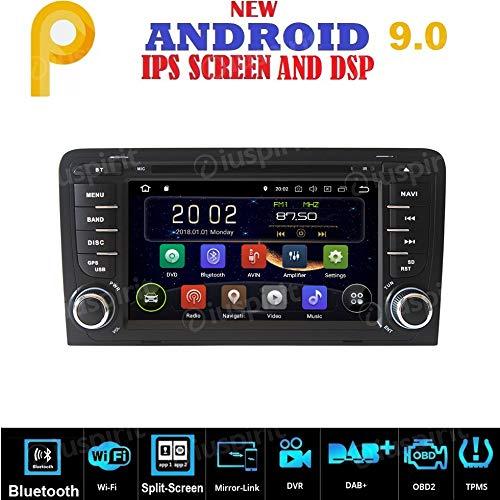 Android 9.0 GPS DVD USB SD WI-FI Bluetooth Mirrorlink Autoradio 2 DIN Navigationssystem für Audi A3 / Audi S3 2002, 2003-2011