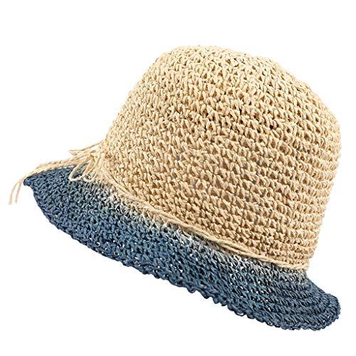 a593fd5514d80 Tleegu Schirmmütze Sonnenschutz Hut Hüte Strohhut Sonnenhut Jazz Hut  Strandhut Sommerhut Panamahut Damen Herren