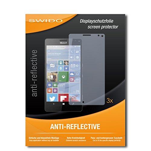 SWIDO® Bildschirmschutzfolie für Microsoft Lumia 950 XL [3 Stück] Anti-Reflex MATT Entspiegelnd, Extrem Kratzfest, Schutz vor Kratzer, Folie, Bildschirmschutz, Schutzfolie, Panzerfolie