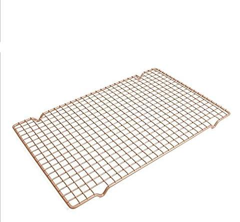 Qualität King-Size-gold Schimmel Kuchenform Backen Netzwerk Antihaft Brot backen Kuchengitter, Netzwerk 230 ° c zu kühlen , 41.3x25.8x1.8cm