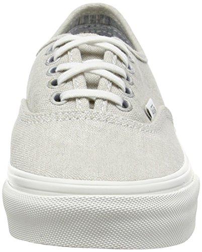 Vans U Authentic Slim Sneaker, Unisex Adulto Nero (Black (Stripes - Washed/Moonstruck))