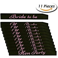 Hen Party Sashes and 1 Pcs Bride to Be Sash for Wedding Ladies Night Out