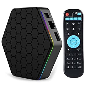 iBOYA Android Smart TV Box T95Z Plus Android 7.1 Amlogic S912 Octa Core 4K BT4.0 Set Top Box Air Mouse Dual WIFI TV Box (2GB RAM 16GB ROM)