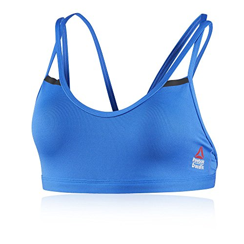 Reebok RC Double Strappy reggiseno sportivo, donna, Donna, Rc Double Strappy, blu (vitblu), L blu (vitblu)
