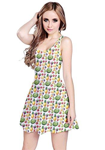 CowCow - Robe - Femme Yellow Pineapple Blanc/vert