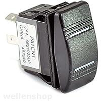 wellenshop 12V LED Kippschalter ON-OFF-ON 25 A