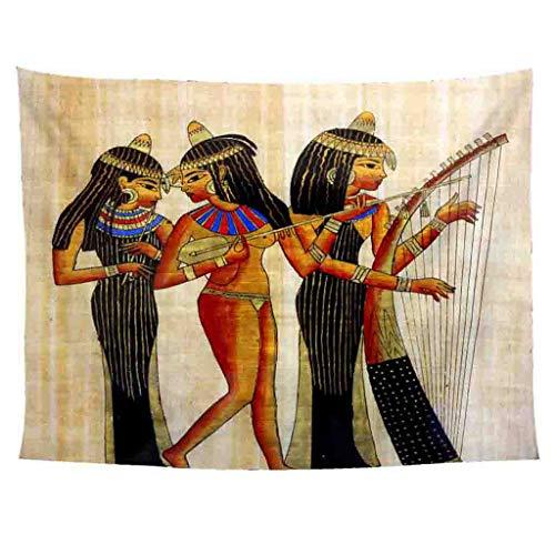 Xmiral Tapisserie Wandbild Uralt Ägypten Stil Hängen Tapestries Wandbehang Gobelin 150X200cm(AF)