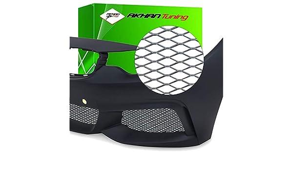 G94 griglia di ventilazione spoiler NERO Alu Race Grill Mesh Sportiva griglia alluminio Maglia Rete AUTO 120x20cm per paraurti
