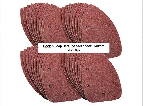 Fogli abrasivi per levigatrice Black & Decker, confezione da 40, 240 Grit 60,80,120 + 240)