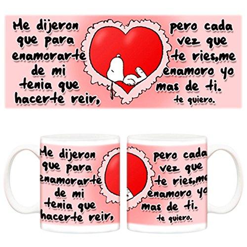 Taza para tu pareja Snoopy Frase romántica