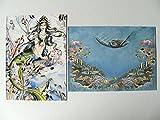 Doppelkarte mit Umschlag, Meerjungfrau, Nixe, 10623, Bild, Karte, Karten