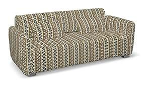 Dekoria Fire rallentamento IKEA Mysinge copridivano 2posti, colore beige/nero mosaico