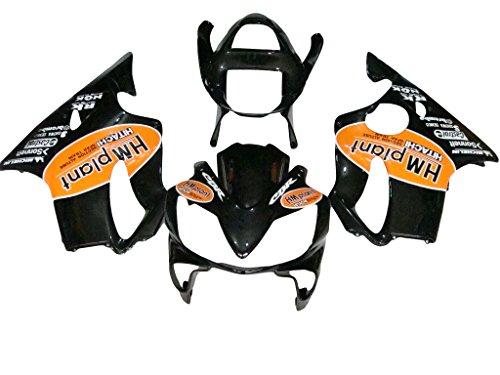 Tencasi iniezione ABS nero telaio moto carenatura corpo set per Honda Cbr 600F4i CBR600F4I 200120022003