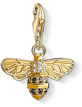 Thomas Sabo Damen-Charm Club Silber vergoldet teilvergoldet Zirkonia weiß - 1449-414-39
