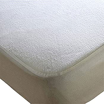Trance Home Linen Economy Waterproof Mattress Protector (White; 72 x 72 inch)