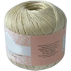 Ovillo de hilo de algodón mercerizado para Macramé