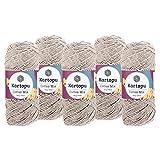 maDDma  5 x 100g Strickgarn Kartopu Cotton Mix Strickwolle Häkelgarn Sommergarn Farbwahl, Farbe:2238S Beige