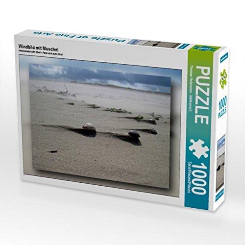 Muschel-salz (Windbild mit Muschel 1000 Teile Puzzle quer)