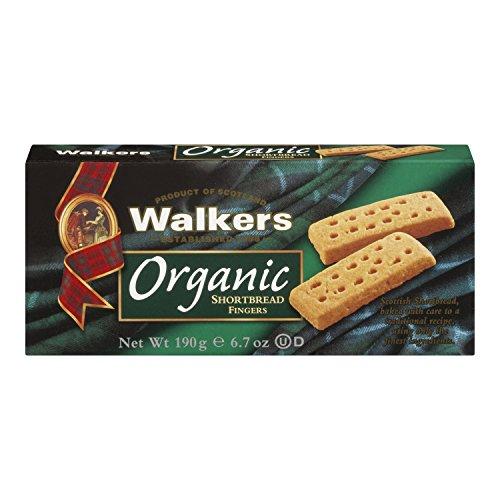 Preisvergleich Produktbild Walkers Organic Shortbread Fingers 190g,  4er Pack (4 x 190 g)