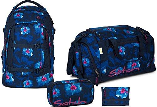 Satch Zaino Scuola Set 4pezzi, Waikiki Blu