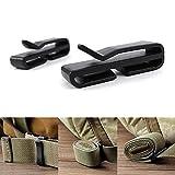 GEZICHTA 5Pack Molle Tactical Rucksack Gurtband Anschluss Schnalle Clip für Outdoor Molle Rucksack, 38 mm
