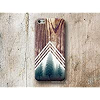 Wald Chevron Holz Print Hülle Handyhülle für iPhone 4 4s 5 5se se 5C 5S 6 6s 7 Plus iPhone 8 Plus iPod 5 6