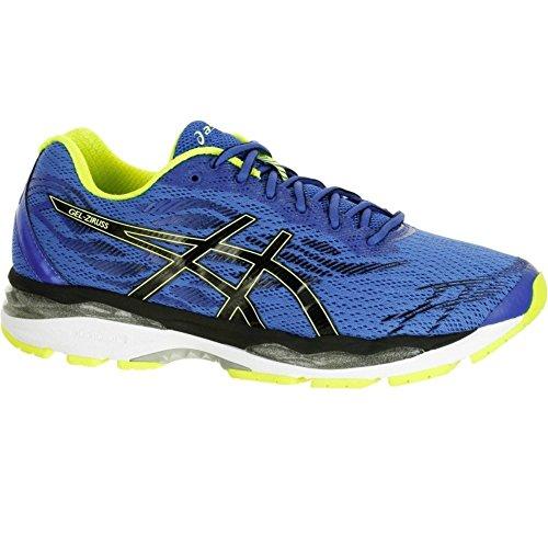 ASICS Gel-Ziruss Uomo Running Trainers T7J1N Sneakers Scarpe (UK 7 US 8 EU 41.5, Blue Black Safety Yellow 4590)