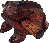 Guru-Shop Sonando Rana - 10 cm, Tambor Sonajero-didgeridoo