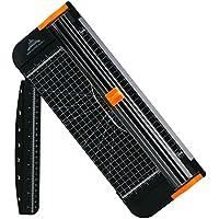 Cortador de papel, de la marca Jielisi, con regla deslizante y protección para dedos, en color negro