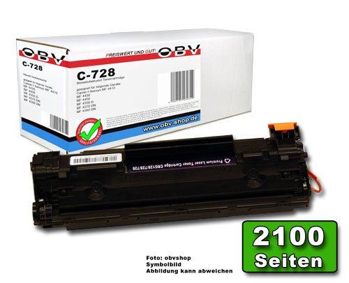 OBV kompatibler Toner ersetzt Canon 728 / CRG-728 für Canon I-Sensys MF 4410 / MF 4430 / MF 4450 / MF 4550 D / MF 4570 DN / MF 4580 DN / Fax L 150 / Fax L 170 / Fax L 410 / LBP 6200d -