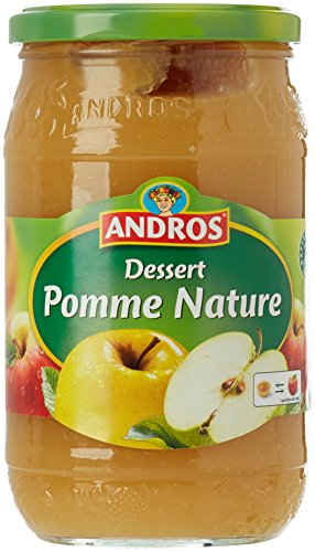 Andros Compote Pomme Nature 750 g - Lot de 3