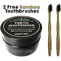 Organic Labs Zähne Natürlichen dass imbiancano Staub von Holzkohle mit 2Zahnputzbecher aus Bambus–Zähne Whitens... preisvergleich bei billige-tabletten.eu