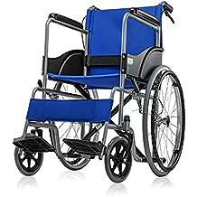 HT BEI Silla de Ruedas, Marco de Acero Ancianos discapacitados Silla de Ruedas Manual Scooter
