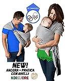 Fascia Porta Bambino Kdikuore Fascia Porta Bebè Marsupio Tracolla Neonato...