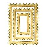 Fustelle per Fustellatrice, FNKDOR Scrapbooking Stencil Metallo Fustella DIY Album Carta Taglio del Mestiere, Accessori per Big Shot e altre macchina (B)