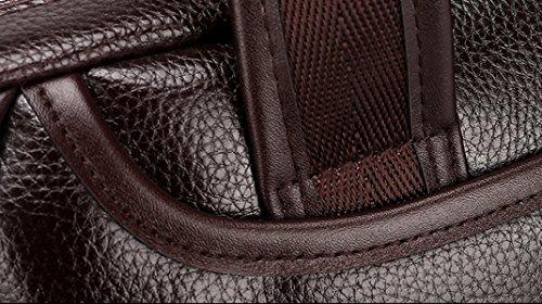 Mann-Beutel-Handtaschen-Schulter-Beutel-Diagonalpaket-Art- Und Weisegeschäfts-Mann-Beutel Ipad Freizeit-Beutel-Computer-Beutel A4 Aktenkoffer Brown