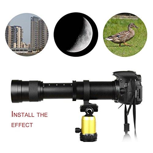 420-800mm F/8.3-16 Super Tele Manuell Zoom Objektiv T-Mount für Canon EOS - Verstärker Objektiv