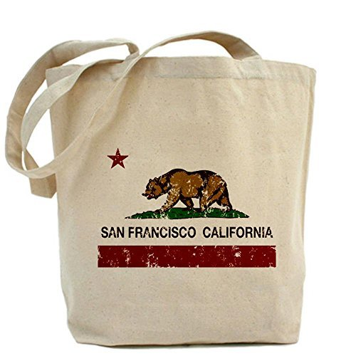 CafePress california flag san francisco distressed Tote Bag - Standard by CafePress San Francisco Flag