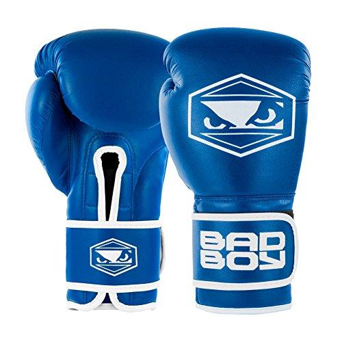 Bad Boy Strike Boxing Gloves-Blue-12oz -