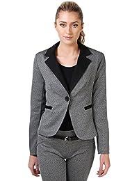 KRISP Damen Business Hosenanzug Eleganter Blazer Graue Slim Fit Hose Anzug Set