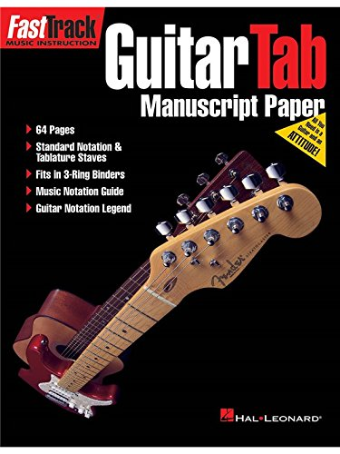 FastTrack: Cahier De Musique Guitare (Standard/Tablatures)
