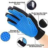 Haustier Bürsten Handschuh Fellpflege-Handschuh Grooming Massagehandschuh Hundebürste Katzenbürste Fellbürste für Hunde Katzen JAANY - 3