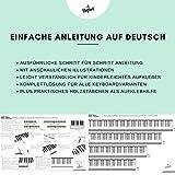 Klavier + Keyboard Noten-Aufkleber für 49   61   76   88 Tasten + Gratis Ebook   Premium Piano Sticker Komplettsatz für schwarze + weisse Tasten   C-D-E-F-G-A-H   einfache Anleitung auf Deutsch - 4