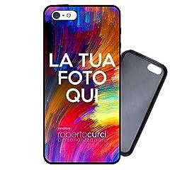 Idea Regalo - Curci Roberto Cover Personalizzata per iPhone 5 5S SE con foto e dedica Idea regalo - Gomma