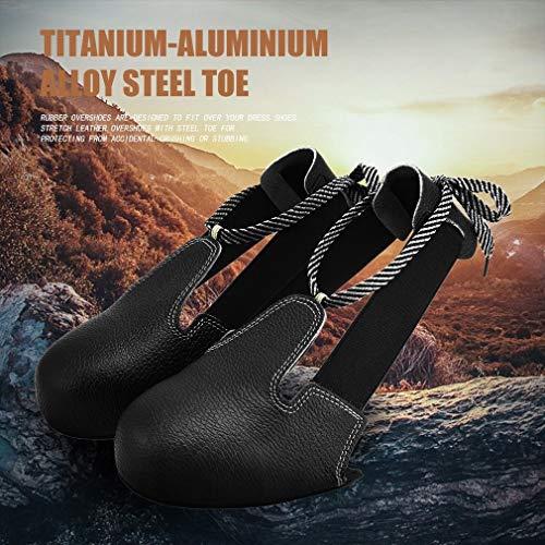 JNYUTECH Universal Anti-Smashing Slip-Resistant Unisex Steel Toe Safety Shoes Cover - Steel Toe Overshoe