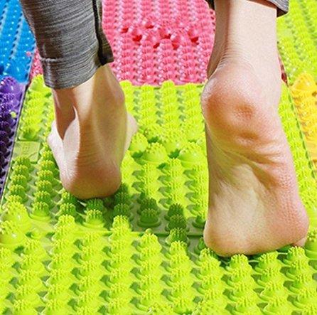 M / 16 zoll Toe Druckplatte Matte Durchblutung Shiatsu Fußreflexzonenmassage Gesundheitswesen Pad (Farbe nach dem zufall) ()